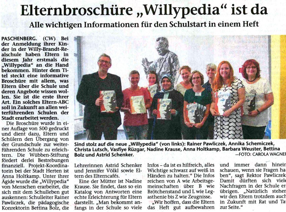 Pressebericht aus der Hertener Allgemeinen Zeitung vom 21.07.2017