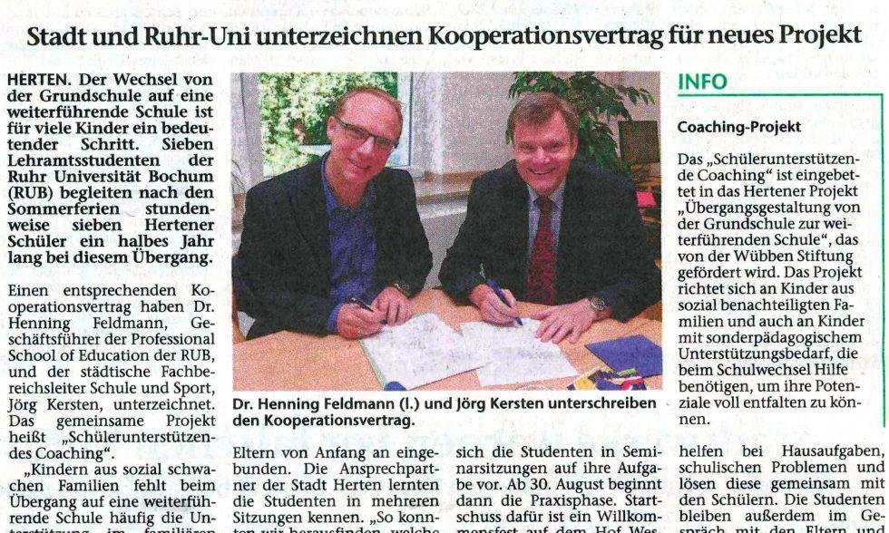 Pressebericht aus der Hertener Allgemeinen Zeitung vom 05.08.2017